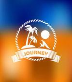 Tropical summer vacation icon — Stockvektor
