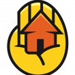House cupped in the palm of a hand — Stock Vector