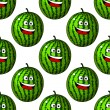 Happy laughing watermelon fruits — Stock Vector