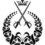 Royal laurel wreath with swords — Stock Vector #43647887