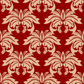 Red damask floral seamless pattern — Stock Vector