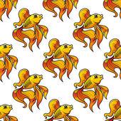 Nahtlose muster der dekorative goldfisch — Stockvektor