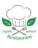 Organic natural restaurant icon — Stock Vector