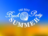 Best beach party poster — Vector de stock