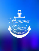 Summer time poster design — Stock Vector