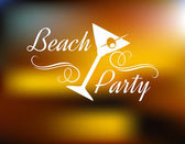 Beach Party Poster — Stock Vector