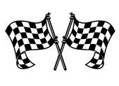 Motor sporları curling esintiyle bayrakları — Stok Vektör