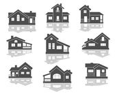 House icons set — Stock Vector