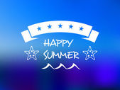 Happy summer five star banner — Stock Vector