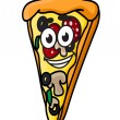 Cartoon pizza slice — Stock Vector