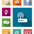 Set of flat media and communication icons — Stock Vector #44103567