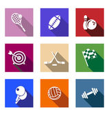 Set of flat sporting icons — Stock Vector