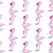 Pink flamingo seamless pattern — Stock Vector