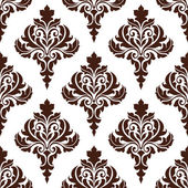 Brown damask seamless pattern background — Stock Vector