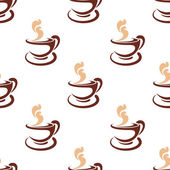 Seamless background pattern of steaming coffee — Stock vektor