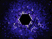 ブルー モザイクの抽象的な背景 — ストックベクタ