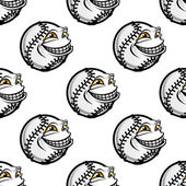 Funny cartoon baseball ball pattern — Stock Vector