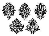 Decorative floral elements set — Stock Vector