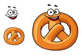 Funny crispy pretzel — Stock Vector