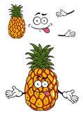 Happy cartoon tropical pineapple — Stock Vector