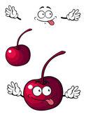 Happy little cherry fruit — Stock Vector