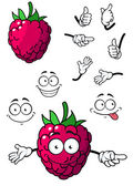 Goofy little cartoon raspberry — Stock Vector
