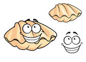 Cartoon clam shell or musse — Stock Vector