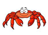Cartoon red marine crab — Stock Vector