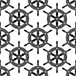 Seamless pattern of antique ships wheel — Stock Vector