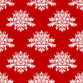 Red or amaranth damask style fabric pattern — Stock Vector
