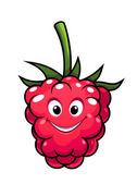 Happy cheeky cartoon raspberry — Stockvector