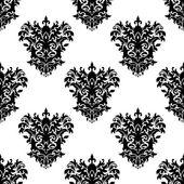 Sem costura padrão decorativo floral — Vetor de Stock