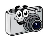 Cute little cartoon compact camera — Stock Vector