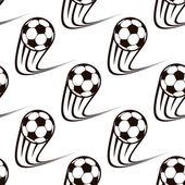 Seamless pattern of zooming soccer balls — Stok Vektör