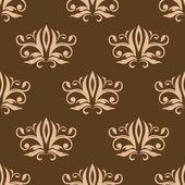 Marrone e beige seamless arabesque modello — Vettoriale Stock