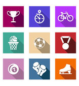Flat sporting web icons — Stock Vector
