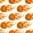 Flaming basketballs seamless pattern — Stock Vector #45947471
