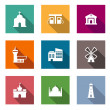 Flat architectural icons — Stock Vector #45947775