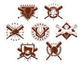Baseball emblems set — Stock Vector