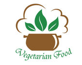 Vegetarian food icon — Stock Vector