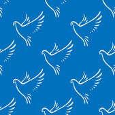 Seamless pattern of flying doves of peace — Stock Vector
