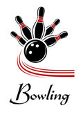 Bowling sports symbol — Stock Vector