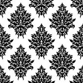 Seamless pattern damascato floreale — Vettoriale Stock