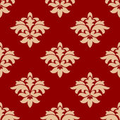 Maroon and beige seamless pattern — Stock Vector
