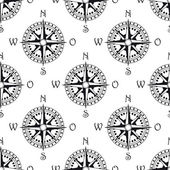 Seamless pattern of a vintage compass — Stock Vector