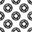 Gears and pinions seamless pattern — Stock Vector
