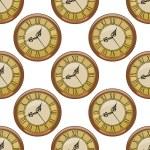 Seamless pattern of vintage clocks — Stock Vector #46566989