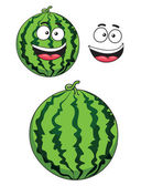 Cartoon ripe watermelon fruit — Stock Vector