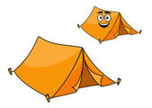 Two colorful orange tents — Stock Vector
