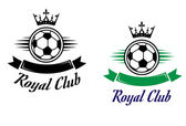 Royal football or soccer club symbol — Cтоковый вектор